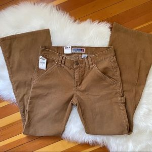 Retro Old Navy Flared Camel Corduroy Jeans